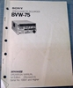 Picture of Sony BVW-75 Operation Manual 1st Edition (Revised 2)