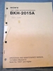Picture of Sony BKH-2015A Operation and Maintenance Manual 1st Edition (Revised 5)