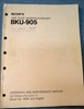 Picture of Sony BKU-905 Operation and Maintenance Manual 1st Edition (Revised 1)