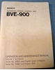 Picture of Sony BVE-900 Operation and Maintenance Manual Volume 1 1st Edition