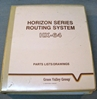 Picture of Grass Valley Group Horizon Series Routing System HX-64 Parts List/Drawings
