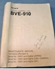 Picture of Sony BVE-910 Maintenance Manual 1st Edition (Revised 4)