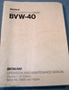 Picture of Sony BVW-40 Operation & Maintenance Manual Vol 1, 1st Ed.