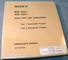 Picture of Sony BZE-2001/2501 Edit List Organizer 1st Edition