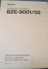 Picture of Sony BZE-9001/02 Operation Manual 2nd Edition (Revised 1)