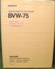 Picture of Sony BVW-75 Volume 1 3rd Edition (Revised 1)