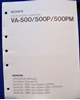 Afbeeldingen van Sony VA-500 Maintenance Manual 1st Edition (Revised 5)