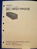 Picture of Sony BC-1WD/1WDCE Operation and Maintenance Manual 1st Edition (Revised 1)