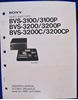 Picture of Sony BVS-3100 Operation Manual,1st Ed Rev 2.