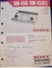 Picture of Sony RM-450/RM-450CE Service Manual pn9-955-069-01