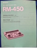 Afbeeldingen van Sony RM-450 Operation Manual pn3-786-085-21(1)
