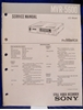 Picture of Sony MVR-5600 Service Manual pn 9-975-708-01.