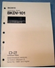 Picture of Sony BKDV-101 Maintenance Manual 1st Edition (Revised 3)
