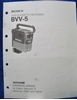 Picture of Sony BVV-5 Operation Manual, 1st Ed, (Revised 3)